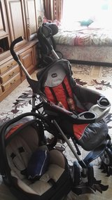 "Stroller ""Chicco"" with MaxiCosi on base like one set in Ramstein, Germany"