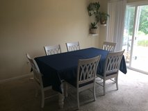 Solid Wood Kitchen Table (Table Cloth Included) in Fort Leonard Wood, Missouri