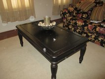 Coffee table with 2 matching end tables solid wood in Fairfax, Virginia
