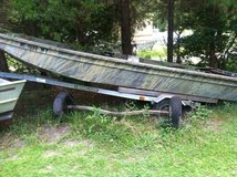 17' aluminum Jon boat and trailer in Goldsboro, North Carolina