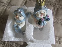 2 Snowmen Ornaments in Aurora, Illinois