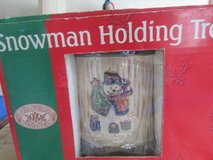Snowman Holding Tree Candle New in Box in Naperville, Illinois