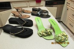 Womens' Sandals -- $3 Each - Size 8 (Green Ones Size 10) - Gently Worn! in Kingwood, Texas