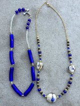 Blue Glass Beaded Necklaces in Oswego, Illinois