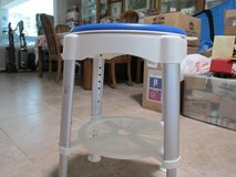 "Swivel Shower Stool 14""D, adjusts 16""-20 1/2""H. Holds up to #00#. Shelf under seat. Like New. Wa... in Beaufort, South Carolina"