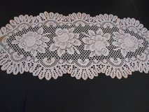 """Table Runner Off White 33"""" by 14"""" Machine Made Excellent in Phoenix, Arizona"""