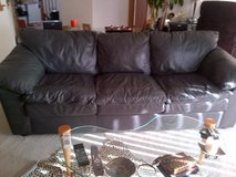 Leather couch and over size chair in Great Lakes, Illinois