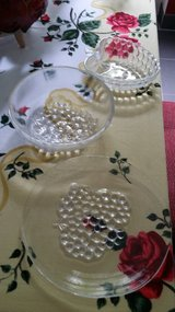 Art Deco Grapes motif 3 piece serving or trinket/keys catch set in Wiesbaden, GE