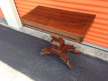 Antique Mahogany Game Table w/ Claw Feet in Camp Lejeune, North Carolina