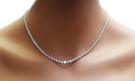 ***BRAND NEW***EXQUISITE 42.00 CTTW C Z Tennis Necklace*** in Cleveland, Texas