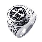 ***BRAND NEW***Men's Classic Vintage Cross Mens Ring, Stainless Steel Band*** in Cleveland, Texas