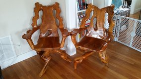 Natural swivel chairs from southeast asia. in Camp Lejeune, North Carolina