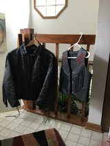 Leather jacket and vest in Great Lakes, Illinois