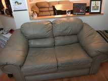 Brown leather sofa and love seat in Fairfax, Virginia
