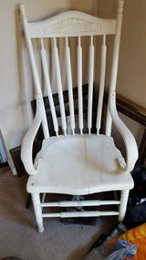 White highback wood chair in Belleville, Illinois