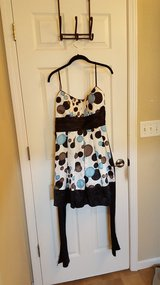 blue polka dot dress with sash in Belleville, Illinois