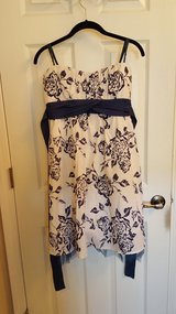 blue flower dress with blue sash in Belleville, Illinois