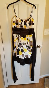 yellow polka dot dress with sash in Belleville, Illinois