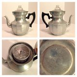 Antique aluminum coffee maker in Joliet, Illinois