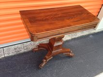 Antique Mahogany Game Table w/ Claw Feet in Cherry Point, North Carolina