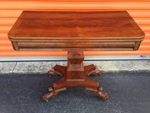 Mahogany Game Table w/ Claw Feet in Camp Lejeune, North Carolina