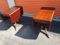 Vintage Mahogany Duncan Phyfe Drop Leave Tables in Cherry Point, North Carolina