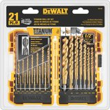 DEWALT DW1361 Titanium Pilot Point Drill Bit Set, 21-Piece in Morris, Illinois