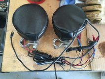 USED MH Rumble Road 4 in. Diameter Premium Amplified Chrome Stereo Speakers & mounts in Alamogordo, New Mexico