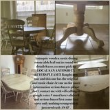 Antique table it's been clean one chair broke the arm other then that great contion in Lackland AFB, Texas