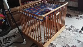 "Wooden play pen/crib/changing table ""Geuter"" in Ramstein, Germany"