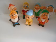 Vintage Set of 7 Dwarfs from Walt Disney Snow White, Hong Kong in Phoenix, Arizona