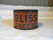 1924 Bliss coffee tin w/o lid in Wilmington, North Carolina