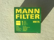Mann Filter MW 75 Spin-On Oil Filter for BMW Motorcycle in Ramstein, Germany