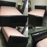 Queen size frame   Brown leather in Fort Carson, Colorado