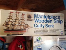Mantelpiece Wooden Ship - Updated Lower Price in Joliet, Illinois