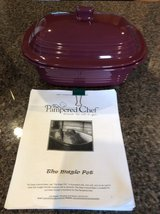 Pampered Chef Deep Covered Baker and Cookbook never used in Batavia, Illinois