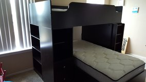 Twin Bunk Bed w/ Desk and Shelves in Lackland AFB, Texas