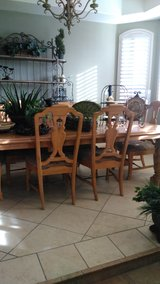FORMAL DINNING ROOM TABLE WITH MATCHING HUTCH in Fort Bliss, Texas