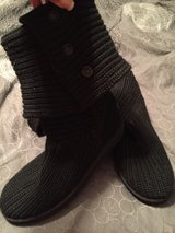 Black size 8 authentic Ugg boots in Belleville, Illinois
