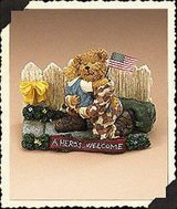 "Boyds Bearstone ""Greg with Mattie.. A Hero's Homecoming"" #228482-1E -NIB- 2006 in Dover AFB, Delaware"