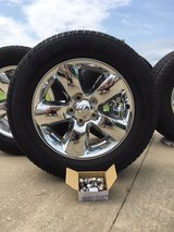 Chrome wheels and tire package with install kit in Elizabeth City, North Carolina
