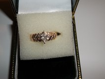 14 kt new marqise dia plus 18 small dia channel .78ct tw in Leesville, Louisiana