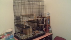 A new cage 4' tall × 4' wide ×3' deep, 6 shelves all accessories in Pasadena, Texas