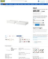 Malm under bed storage boxes in Joliet, Illinois