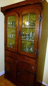 Solid Wood Spanish Glass Cabinet in Ramstein, Germany