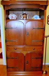 Solid Wood Spanish China Cabinet or Bar Back in Ramstein, Germany