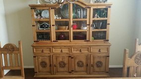 Texas Star Rustic China Hutch in Spring, Texas