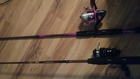 2 fishing rods and reels &free extra rod in Pasadena, Texas