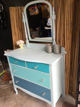Charming Antique Ombre Dresser / Vanity with Mirror in Naperville, Illinois