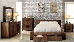 Wooden Style Bed with pull out Drawers in Fort Irwin, California